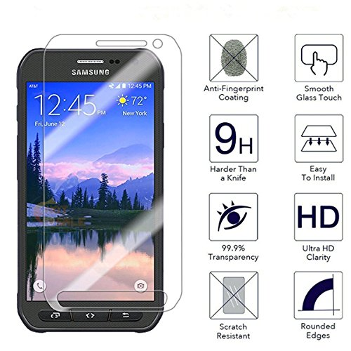 Galaxy S6 Active Screen Protector, SOOYO(TM) Premium Tempered Glass Screen Protector (Shatter-Proof/Bubble Free) for Samsung Galaxy S6 Active ,not for Galaxy S6, S6 Edge [Lifetime Warranty]-[3Pack]