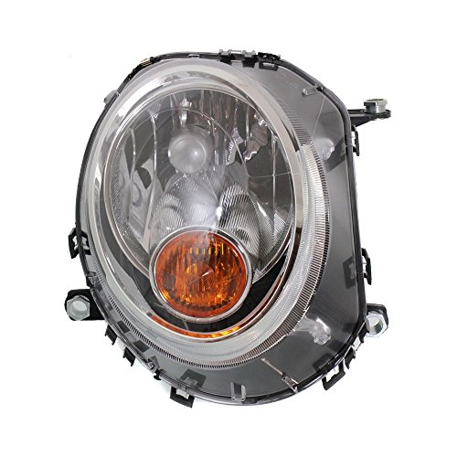 Headlight for Cooper 07-15 RH Assy Halogen W/Yellow Turn Indicator Right Side