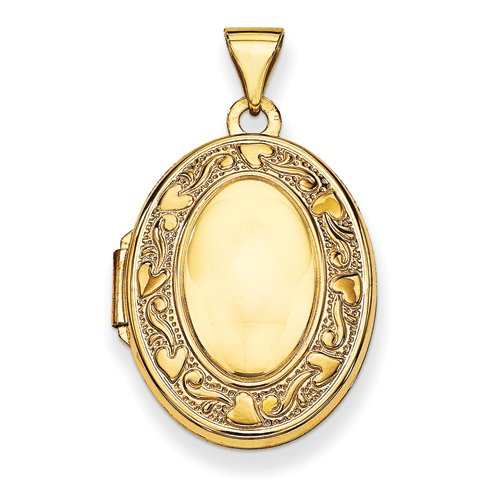14 Karat Yellow Gold Locket- H