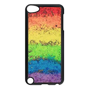 DIY Printed Rainbow hard plastic case skin cover For Ipod Touch 5 SN9V993404