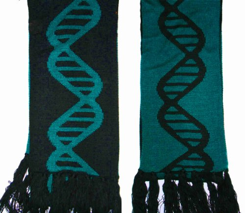 DNA Reversible Winter Scarf Turquoise Blue