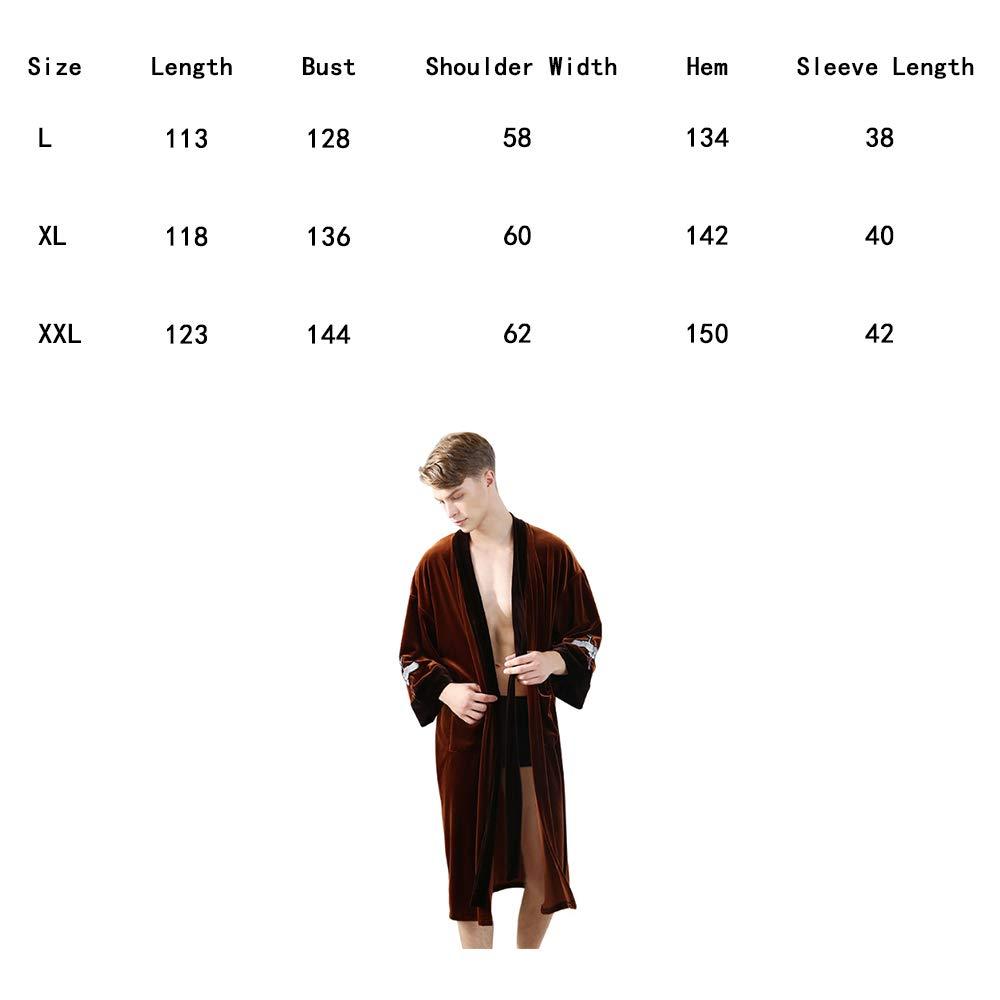 a433480e812 Pyjama en Velours Couple Manches Longues Dames Automne et Hiver Simple Robe  Peignoir hôtel