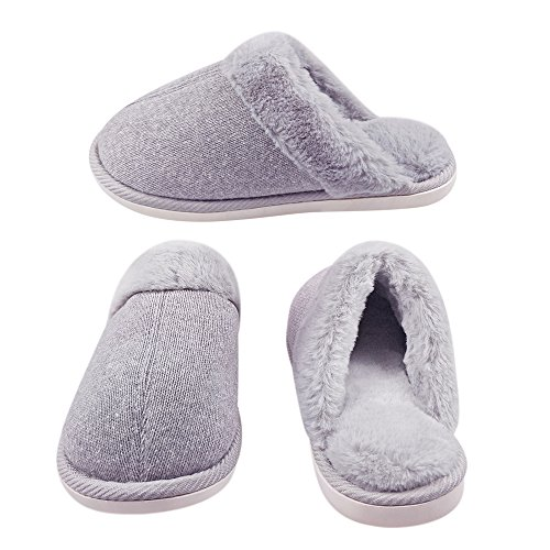 Indoor Grey Slip Cotton Womens Soft Knitted Cashmere Anti Slippers Winter wqEzpR0