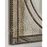 Beaded Venetian Frameless Vanity Mirror | Glass Frame Large Wall