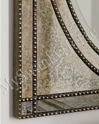 Beaded Venetian Frameless Vanity Mirror Glass Frame