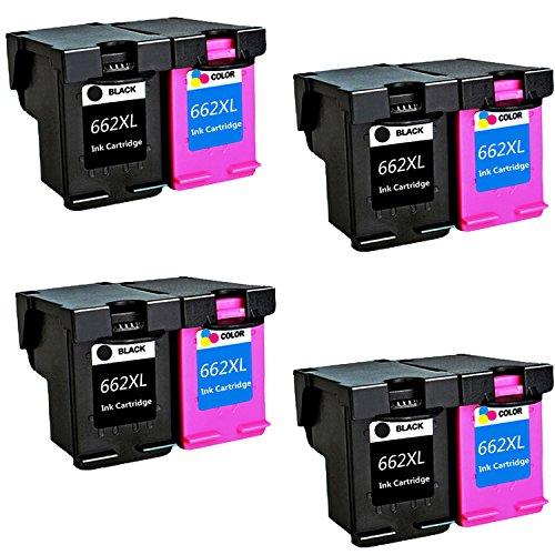 LOVEINK 8 Pack Remanufactured Ink Cartridge For HP 662XL Deskjet Ink Advantage 3515 3545 4645 ()