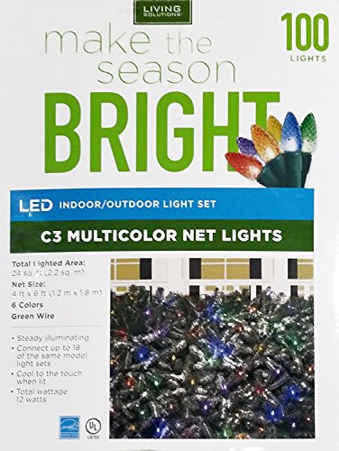 100Ct Multi Led C7 Faceted String Lights - 3