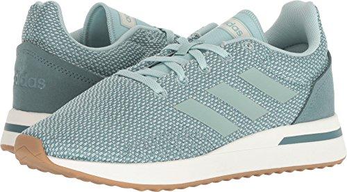 adidas Women's Run70S Running Shoe, Ash Green/Ash Green/Raw Green, 5 M US