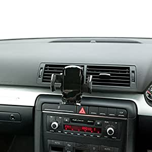 Ultimate Addons Pro Swivel Ball Air Vent Mount Car Kit V2 with Black Holder for Nokia Lumia 800