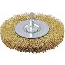 Vermont American 16792 3-Inch Fine Brass Wire Wheel Brush with 1/4-Inch Hex Shank for Drill by Vermont American