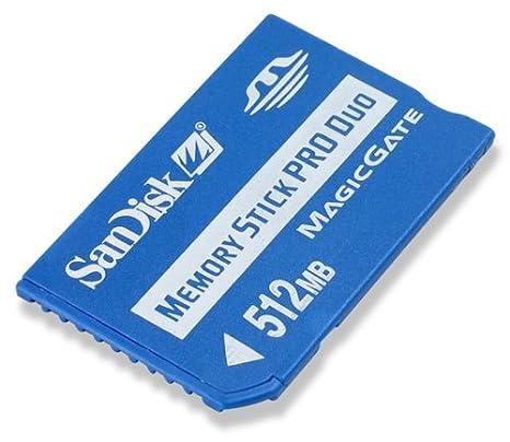 Sandisk Memory Stick Pro Duo 512MB Memoria Flash 0,5 GB MS ...