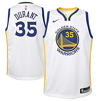 Nike NBA Golden State Warriors Kevin Durant 35 KD 2017 2018 Association Edition Jersey Oficial Home, Camiseta de Niño