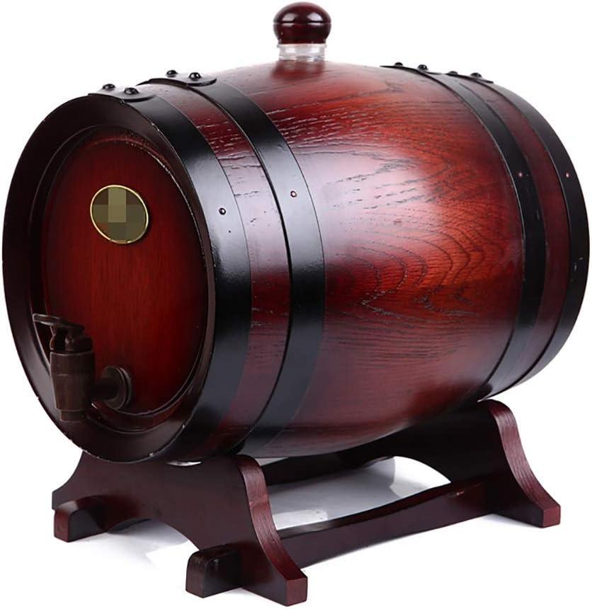 DHR- Barril de vino barril de roble barril de vino barril de vino de elaboración propia Barril de madera sin piedra de barril de roble-0.75L / 1.5L / 3L / 5L / 10L / 15L / 50L Dispensador de Vino Barr