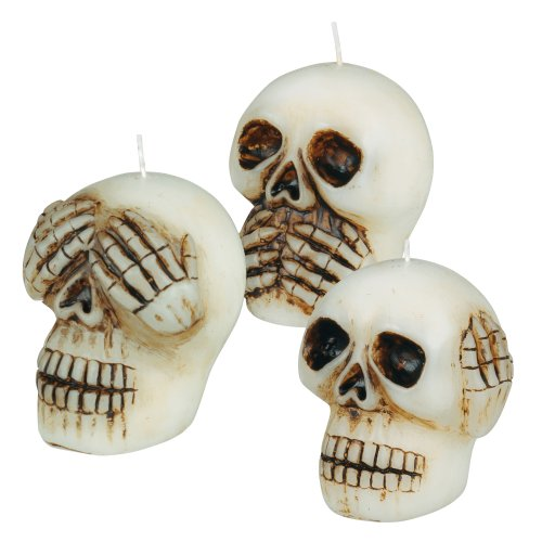 Grasslands Road Wax Skull Candle, 2-Inch, 9-Pack by Grasslands Road