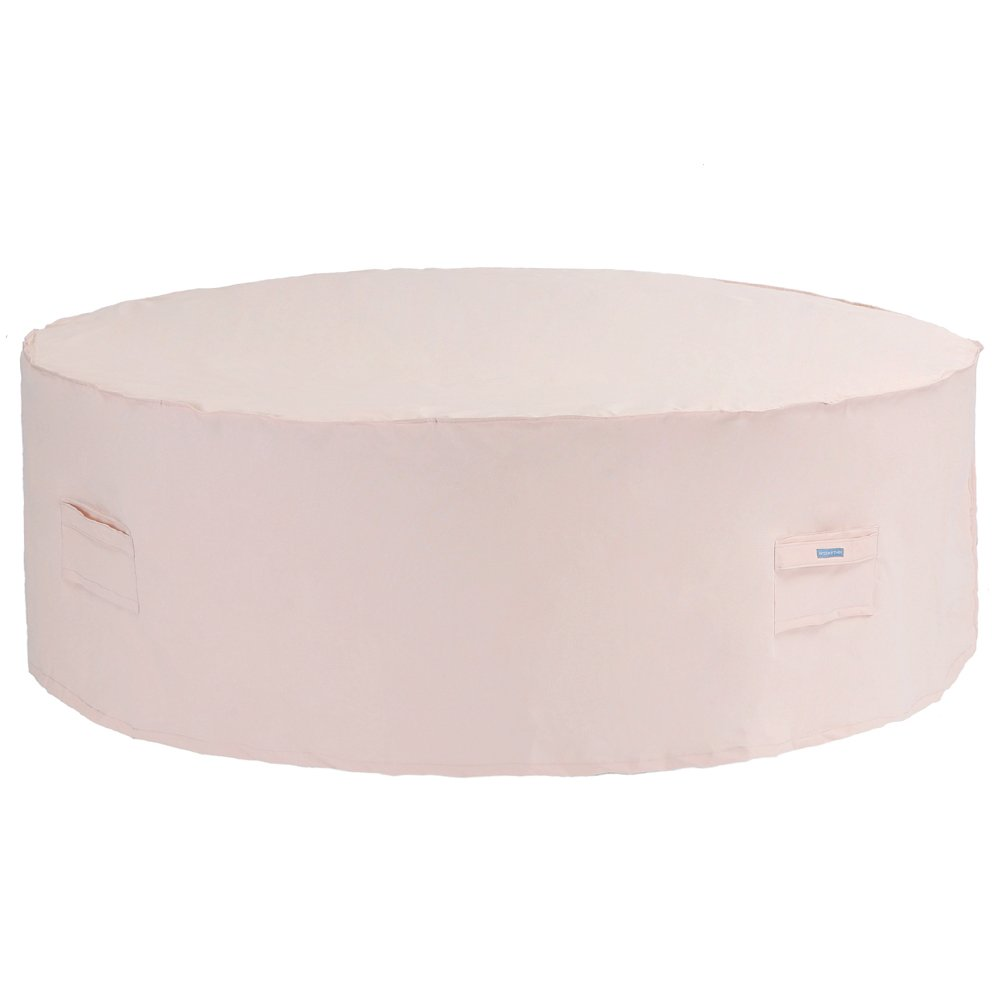 Amazon com patio watcher large round patio table and chair set cover durable and waterproof outdoor furniture cover beige garden outdoor