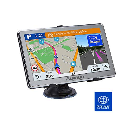 GPS Navigation for Car,Auxauo Vehicle 7 Inch 8GB HD Touch Screen Car GPS Navigation System,with Lifetime Maps,Driving Alarm, Voice Steering