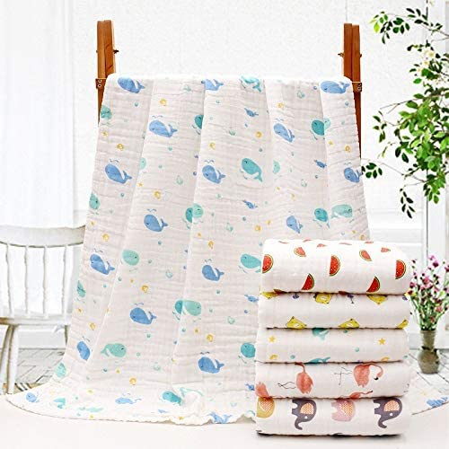 MODERN HOMES Organic Cotton Baby Muslin Swaddle wrap for new born//baby blanket; Baby Shower Gift Set 44x44 inches Pack of 3