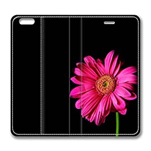 iPhone 6 Plus Case, Hot Sale Hot Pink Gerber Daisy Protective PU Leather Flip Case [Stand Feature] Cover for New Apple iPhone 6 Plus(5.5 inch) Only