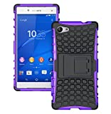Xperia Z5 Compact Case, OEAGO Sony Xperia Z5 Compact Case Cover Accessories - Tough Rugged Dual Layer Protective Case with Kickstand For Sony Xperia Z5 Compact / Mini (2015 Released) - Purple