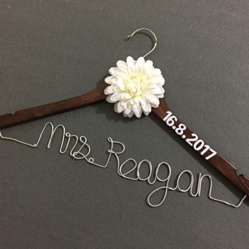 Handmade Wedding Hanger, Rustic Wedding Dress Hanger, Custom Bridal Dress Hanger, Personalized Bridal Shower Gift