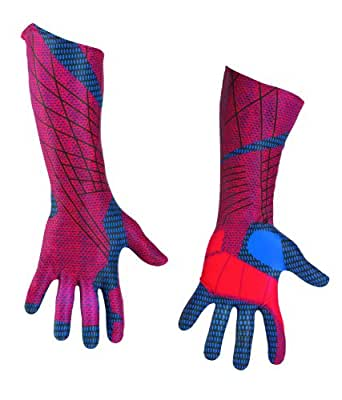 Disguise Marvel The Amazing Spider-Man 3D Movie Adult Deluxe Gloves, Red/Blue, One Size Adult Costume