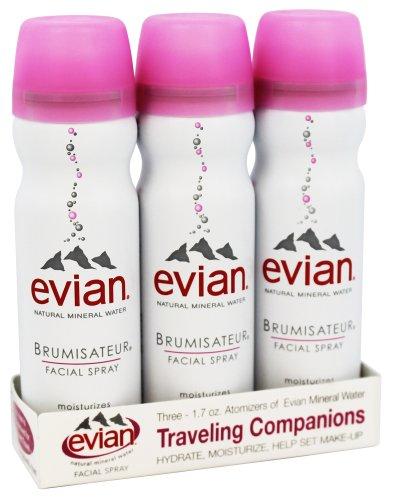 Evian - Brumisateur Facial Spray Traveling Companions - 3 x 1.7 oz.