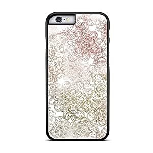 Funda carcasa para Apple iPhone 6 Plus - 6S Plus estampado mandala colores borde negro