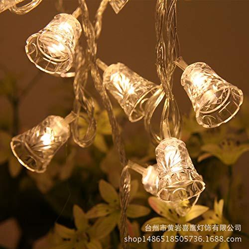 Holiday String,Decorative Lantern LED Bell Battery Light Christmas Garden Atmosphere Lighting Solar Light String 10…