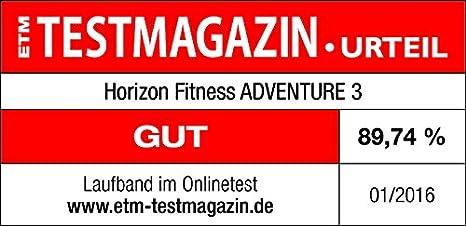 Horizon Fitness Uni Cinta de Correr Adventure 3, Negro, 182 x 89 x ...