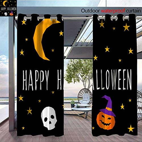QianHe Indoor/Outdoor Single Panel Print Window Curtain Happy-Halloween-Card-Template-Abstract-Halloween-Pattern-for-Design-Card-Party-Invitation-Poster-Album-menu-t-Shirt-Bag-Print-etc-8.jpg Silver ()