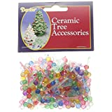 "Darice P0600 Ceramic Christmas Tree Bulb .25"" 250/Pkg-Mini Globe-Multi"