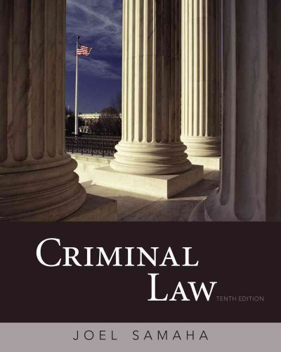 Download Criminal LawCRIMINAL LAW by Samaha, Joel (Author) on Jan-15-2010 Hardcover ebook