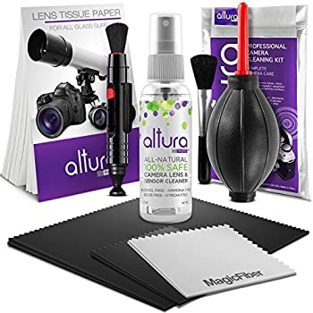 Altura Photo Professional Cleaning Kit for DSLR Cameras and Sensitive Electronics Bundle with Altura Photo 2oz All Natural Cleaning Solution