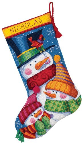 Price comparison product image Dimensions Needlecrafts Needlepoint, Freezin' Season Stocking