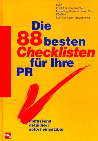 Die 88 besten Checklisten für Ihre PR