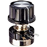 Uxcell RV24YN20S Single Turn Carbon Film Rotary Taper Potentiometer with Knob, 10K Ohm