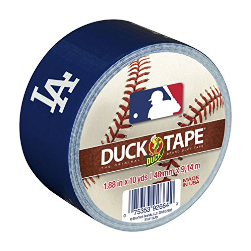 Duck Brand 240691 Los Angeles Dodgers MLB Team Logo Duct Tape, 1.88-Inch by 10-Yard, 1-Pack
