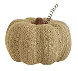 7.5'' Autumn Harvest Brown Rustic Burlap Pumpkin Thanksgiving Fall Decoration (1)