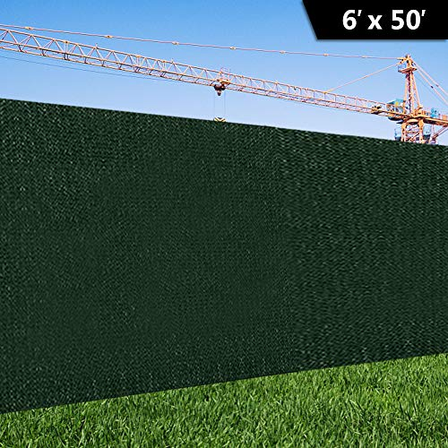 zimo 6'x50' Balcony Privacy Screen Wind Screens Fence Cover Shade Mesh Fabric Fence Privacy Screen (6'x50') from zimo