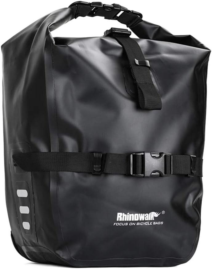 geneic Rhinowalk - Bolsa para bicicleta (20 L, impermeable, portátil, asiento trasero de bicicleta, accesorios para bicicleta)