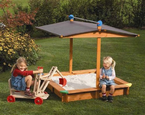 Tierra-Derco Large Covered Wooden Sandbox by Tierra-Derco