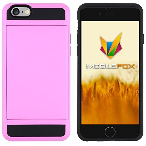 Mobilefox Kathrin Schutzhülle Silikon Case Kartenfach Apple iPhone 6/6S Pink