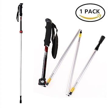 d32fea248 Minglitai Batones de Trekking, Bastón de Senderismo Montaña de Aluminio,  Bastón Ligero para Caminar