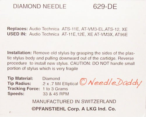 Aguja para audio technica ATS12/ats12e at12e at11e 200-dec 200-det 200-de