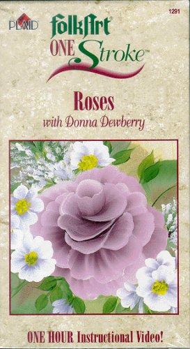 (Folk Art One Stroke ROSES Video by Donna Dewberry)