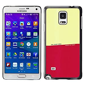 Plastic Shell Protective Case Cover || Samsung Galaxy Note 4 || Fall Stand Up Times Quote Motivational @XPTECH
