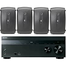 Sony 5.2-Channel 725-Watt 4K A/V Home Theater Receiver + Yamaha High-Performance Natural Surround Sound 2-Way 120 watts Indoor/Outdoor Weatherproof Speaker System (Set Of 4)