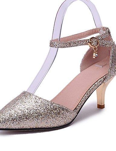 GGX/ Zapatos de mujer-Tacón Stiletto-Tacones-Tacones-Oficina y Trabajo / Vestido / Casual-Semicuero-Rosa / Rojo / Plata / Oro , silver-us8.5 / eu39 / uk6.5 / cn40 , silver-us8.5 / eu39 / uk6.5 / cn40 red-us5.5 / eu36 / uk3.5 / cn35