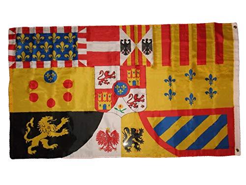 (Hebel 3x5 Spain Spanish Royal Banner Premium Quality Flag 3x5 Banner Grommets | Model FLG - 270)