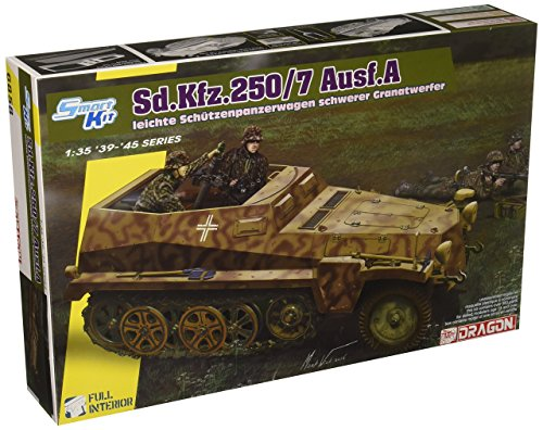 Dragon Models 1/35 Sd.Kfz.250/7 Atle 8cm Mortar Carrier with Full Interior ()